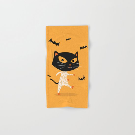 Mummy Cat Hand & Bath Towel