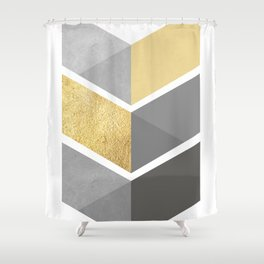Geometric and modern art IX Shower Curtain
