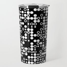 Playful Dots B&W Travel Mug