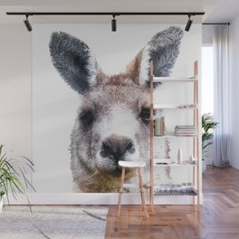 Kangaroo Portrait Wall Mural