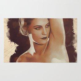 Vintage Nude Pinup Rug