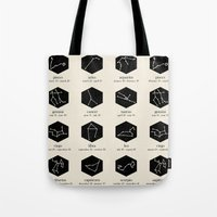 zodiac Tote Bags featuring Zodiac by Dorothy Leigh