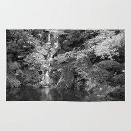 Waterfall in Japanese Zen Garden Rug