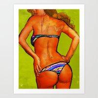 bikini Art Prints featuring Bikini by Ed Pires