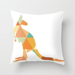 Kangaroo Capers Throw Pillow