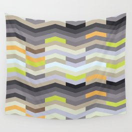Modern Chevron - Fresh Green Wall Tapestry