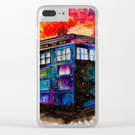 Doctor Who Tardis Painting Clear iPhone Case
