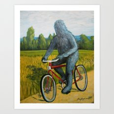 On A F___ing Bike Art Print