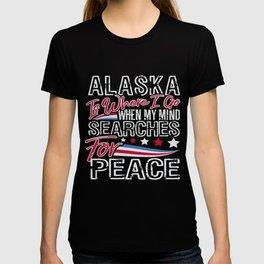 Alaska American Patriotic Memorial Day T-shirt