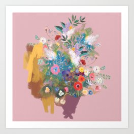 Mixed bouquet of flowers Art Print