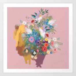 Mixed bouquet of flowers Art Print