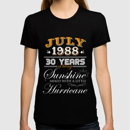July 1988 Gifts 30 Years Anniversary Celebration T-shirt