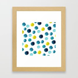Polka Dot Beach Party Framed Art Print