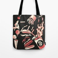 marylin monroe Tote Bags featuring Marylin by bigadi