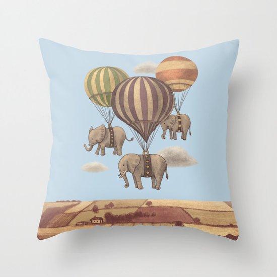 Flight of the Elephants - colour option Throw Pillow