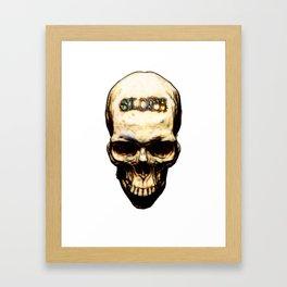 Cause Of Death Sloth Framed Art Print