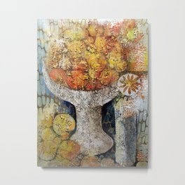 Materic composition of yellows and oranges Metal Print