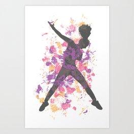 Hip Hop Dancer Art Print
