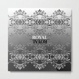 Black and white lace pattern Metal Print