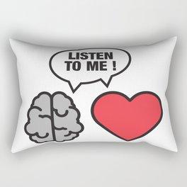 head vs. heart Rectangular Pillow