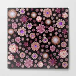 flowers on dark Metal Print