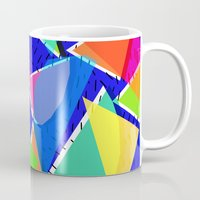 80s Mugs featuring 80s shapes by Sarah Bagshaw