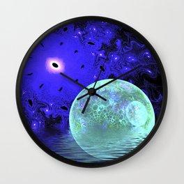 Aqua Bubble Scape Abstract Wall Clock