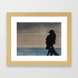 Tranquil Eagle Silhouette Framed Art Print