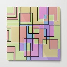 Pastel Squares Metal Print