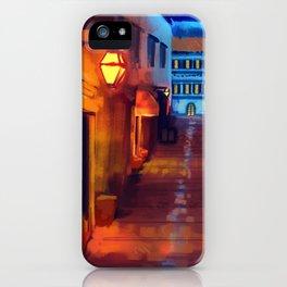 Italian Street at Night iPhone Case