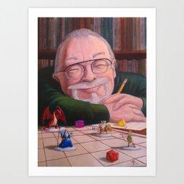 Gary Gygax: the Dungeon Master Art Print
