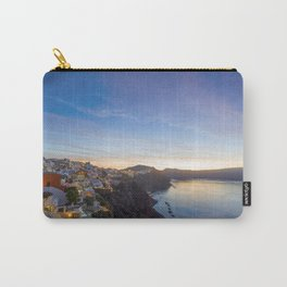 Oia village  Santorini Island at sunset Carry-All Pouch