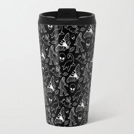 Cryptid Pattern: White Lines Travel Mug