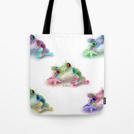 Tree Frog Pattern Tote Bag