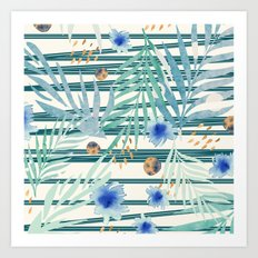 SUMMERTIME STRIPES Art Print