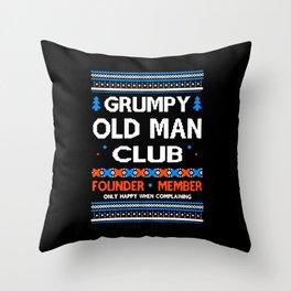 Grumpy Old Man Throw Pillow