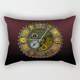 Japonism clock 1 Rectangular Pillow