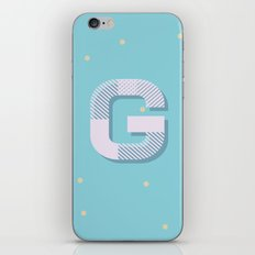 G is for Glamorous iPhone & iPod Skin