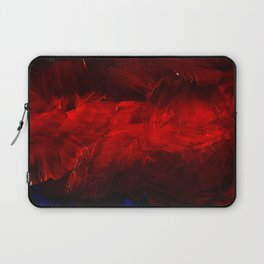Red And Black Abstract Gothic Glam Chic Laptop Sleeve