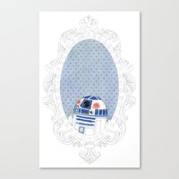 r2d2 Canvas Prints featuring R2D2 by Jacqueline Hudon Illustrations