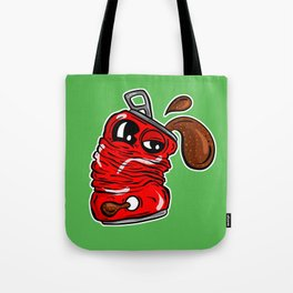 Sad Fizzy Crushed Cola Can Cartoon - Lazy Keith Tote Bag