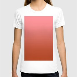 Pastel Red to Red Horizontal Linear Gradient T-shirt