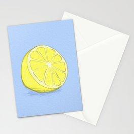 Lemon on Lavender Blue Stationery Cards