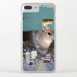 The Mind on Tormented Tides Clear iPhone Case