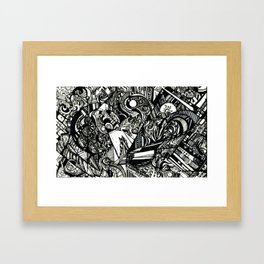 Fractalscape Framed Art Print