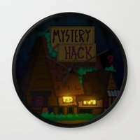 gravity falls Wall Clocks featuring Gravity Falls by Ryan John