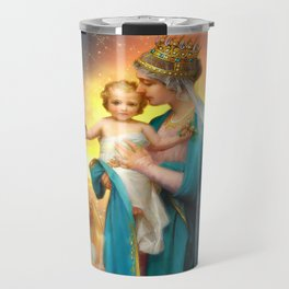 Our Lady of the Angels clouds Travel Mug
