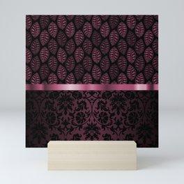 Pink Tint Skeleton Leave Pattern Mini Art Print
