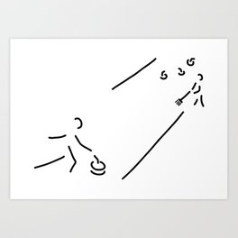 curling curling winter sports Art Print
