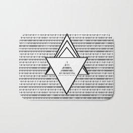 Binary code Bath Mat
